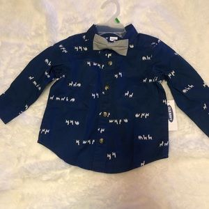 NWT Baby's Old Navy Shirt and Bow tie. Size 12-18M